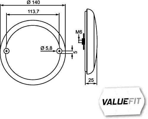 HELLA 2NR 357 026-251 Heckleuchte - Valuefit - LED