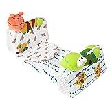 【𝐂𝒚𝐛𝐞𝐫 𝐌𝐨𝐧𝐝𝐚𝒚】Almohada antivuelco para Dormir, Almohada Moldeadora para bebé, Adornos de Dibujos Animados, Tela de Terciopelo, diseño ergonómico, Moldeador de algodón, Forma de Cabeza de be