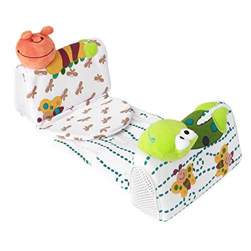 Pbzydu Almohada antivuelco para Dormir, Almohada Moldeadora para bebé, Adornos de Dibujos Animados, Tela de Terciopelo, diseño ergonómico, Moldeador de algodón, Forma de Cabeza de bebé