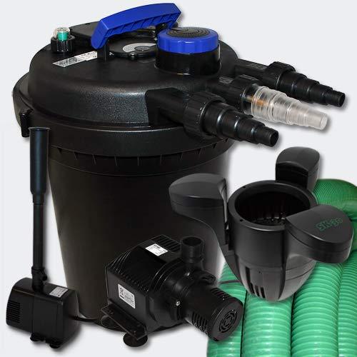 Drukfilterset 6000l 11W UVC vijverzuiveraar 25m slang pomp fonteinpomp Skimmer 40