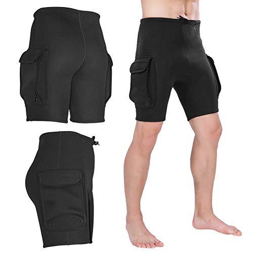 Pantalones cortos para traje de neopreno - Pantalones cortos de neopreno para hombre que bucean en neopreno de 3 mm, Equipos de buceo, Pantalones de bolsillo para trajes de neopreno ( tamaño : XXXL )