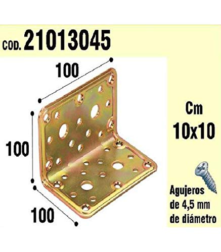 WOLFPACK 21013045 Support Bois pour Angle 100 x 100 x 100