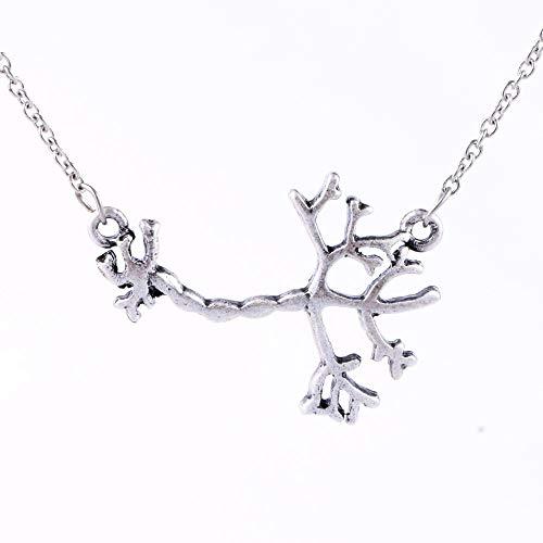 Punk 3D Science Jewelry Human Neuron Necklace Anatomy Pendant Eco-Friendly Brain Nerve Cell Biology Necklaces 3528mm 45cm