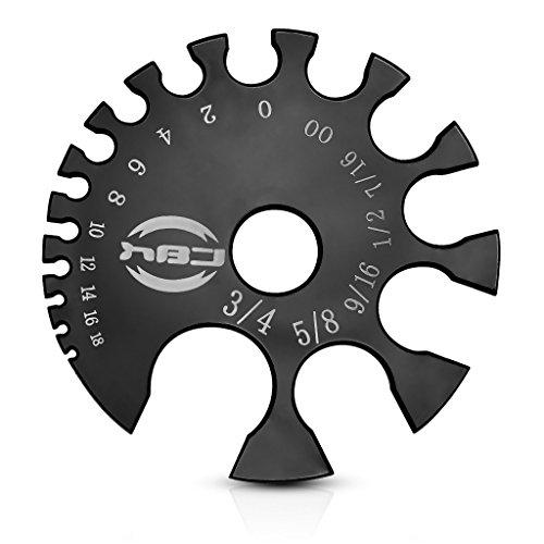 Pierced Owl Body Jewelry Piercings Gauge Measurement Wheel, Black Acrylic - MM & Gauges
