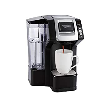 Hamilton Beach FlexBrew Single-Serve Maker with 40 oz Reservoir Compatible with Pods or Ground Coffee 3 Brewing Options Black and Silver  49948