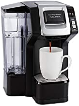 Hamilton Beach FlexBrew Single-Serve Maker with 40 oz. Reservoir Compatible with Pods or Ground Coffee, 3 Brewing Options, Black and Silver (49948)