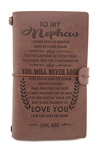 Leather Journal – Gifts from Aunt to Nephew– 1 Set(JNL-S)