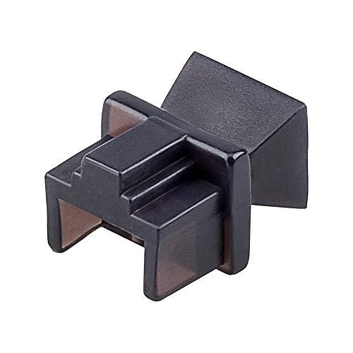 Goobay 50527 Staubschutz für RJ45 Buchse Blindstopfen für ISDN Netzwerkdosen Patchpanel, 10 Stück schwarz