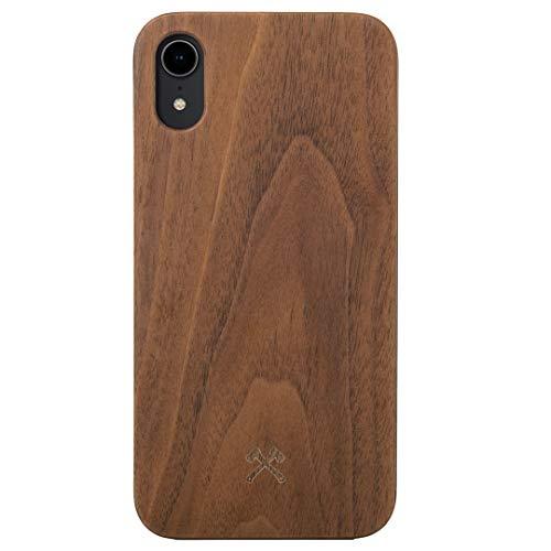 Woodcessories - Hülle kompatibel mit iPhone Xr aus Echtholz - EcoCase Classic (Walnuss/Schwarz)