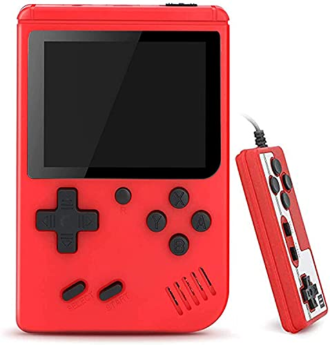 AUSHA Retro 400 in 1 Handheld Game Console With Controller, 400 Free Classical FC Games Support for Connecting TV & Two Players, Portable Video Game Gifts for Adults & Kids 8-12 90s Retro Toys
