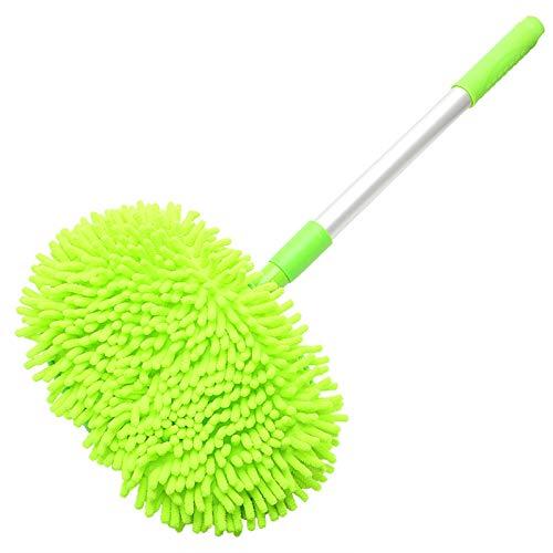 Plumero de coche Polvo Cera MOP Lavado de automóviles Mop Limpieza de automóvil Ventana Lavado Herramienta Auto Cuidado Auto Cuidado Detalle Accesorios Ajustables ( Color : Verde , Size : One size )