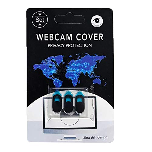 Element Z Webcam Covers - 3 Sliding Shields, Protects Online Privacy, Helps Prevent Camera Hacking - Security Slider for Phones, Tablets, Laptops, Computers - Thin & Discreet, Adhesive Sticker Backing