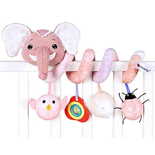 VENTDOUCE - Giocattoli per seggiolino auto, motivo: elefante, a spirale, per passeggino, culla, culla, culla, culla, culla, seggiolino auto mobile con carillon