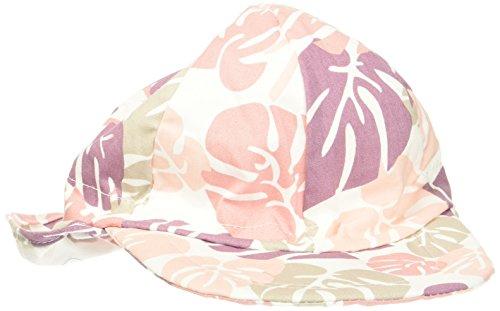 Melton Baby-Mädchen Sonnenkappe mit Nackenschutz UV30+, Gemustert Kappe, Mehrfarbig (Blush Rose 503), 51