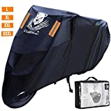 ClawsCover 104 Inch XXL Motorcycle Cover Waterproof Outdoor All Season UV Protection Scooter Bike Covers Accessories with Lock Hole & Storage Bag for Harley Davidson Honda Kawasaki Yamaha and More