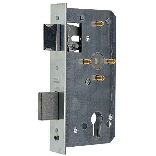 Einsteckschloss für Metalltore PZ/W 72/55/8 mit 4 Messinghülsen, Stulp 33x179 für 40 mm - Schlosskästen