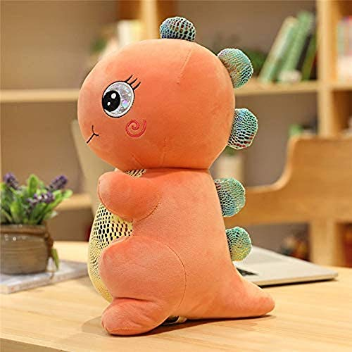 ZCHWU Hug Soft Plush Pillow To Sleep Comfortably Cushion Plush Pillow Birthday Cute Dinosaur Soft Doll 26cm Orange
