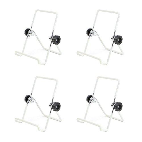 bestonzon 4Mason Jar Samen Etablieren Deckel steht Edelstahl Etablieren Jar Ständer Handy iPad Tablet Ständer–S (weiß)