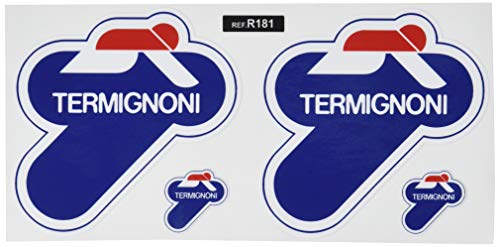 Ecoshirt NX-16BO-VRJB Stickers Termignoni Ref: R181 Aufkleber Autocollants Adesivi Moto GP Decals Motorcycle, 10X10 cm, Mehrfarbig, 10x10 cm