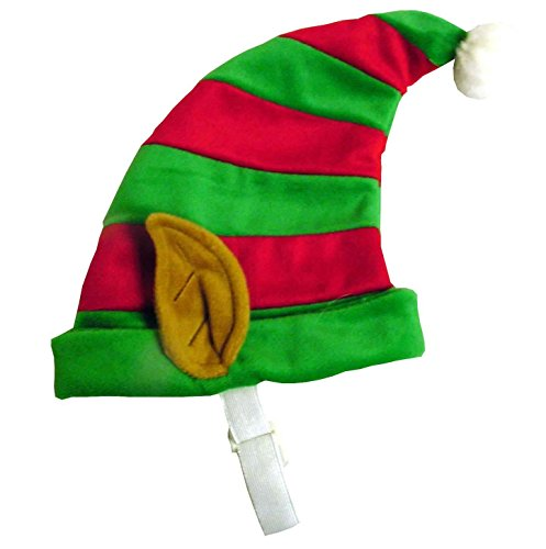 Outward Hound Kyjen 30034 Dog Elf Hat Holiday and Christmas Pet Accessory, Medium, Red and Green