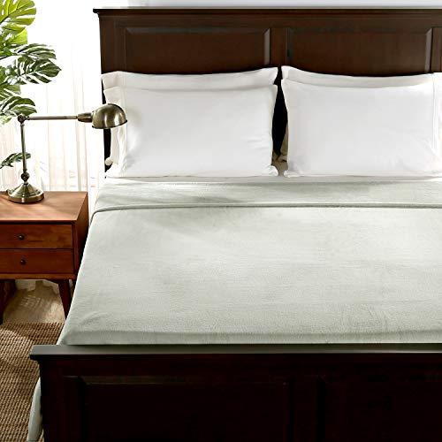 Berkshire Blanket Serasoft Luxury Plush Super Soft Cozy Warm Bed Blanket, Sage, Twin