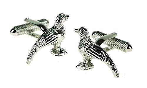 Faisan boutons de manchette motif oiseaux en boîte cadeau – livrés Londres ck619