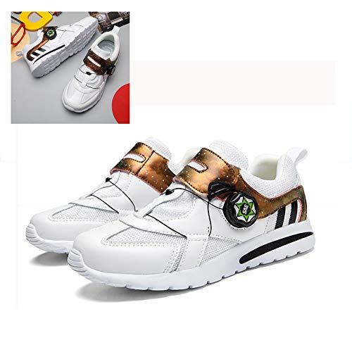Roller Shoes Zapatillas De Bicicleta Se Utilizan para Sistemas Antideslizantes En Interiores Y Exteriores Zapatillas De Bicicleta Transpirables Cómodas Y Resistentes Al Desgaste para Niños,B,33