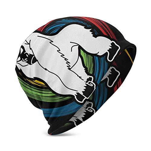 Empty Unisex Kids Beanie Caps Gorilla King Kong Angry 3D Printing Cap Hip-Hop Winter Summer Hat Knit Hats for Girls Boys Black