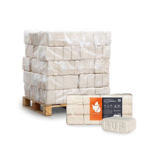 HEIZFUXX Holzbriketts Laubholz Ruf Classic Kamin Ofen Brenn Holz Heiz Brikett 10kg x 30 Gebinde 300kg / 1 Palette Paligo