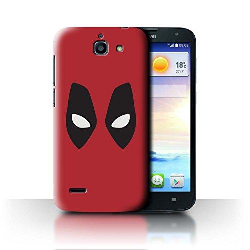 Hülle Für Huawei Ascend G730 Superheld Comic-Kunst Deadpool Maske Inspiriert Design Transparent Ultra Dünn Klar Hart Schutz Handyhülle Case