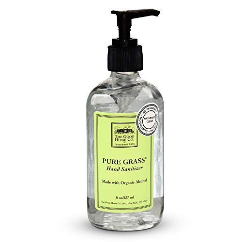 The Good Home Hand Sanitizer 8 Ounce Glass Bottle Hand Pump...