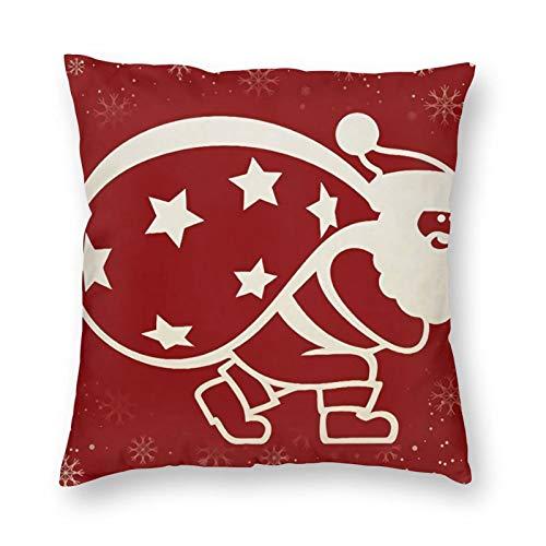 DESIGNS - Funda de cojín, Papá Noel, decoración del hogar, para hombres, mujeres, niños, niñas, sala de estar, dormitorio, sofá de 40 x 40 cm
