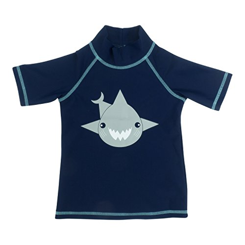 Banz- Camicia a maniche corte, colore: turchese Navy Blue with Shark motif 8