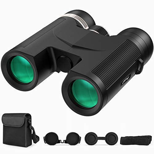 Allkeys 12X42 Binoculars for Adults and Kids, HD Professional Waterproof Compact Binoculars for Bird Watching, Hunting, Outdoor Sports, Concerts with BAK4 Prism,FMC Lens,Low Light Night Vision