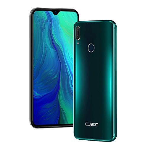 CUBOT R15 Pro Smartphone 6.26 Polliic Waterdrop Screen Android 9 3GB 32GB 16.0MP + 2.0MP Fotocamera Posteriore Face ID e Impronte Digitali ID Dual SIM 4G Cellulare Verde