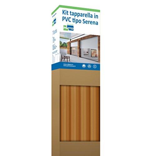 Rollplast PVCKTSEC6200123016001 rolluiken van PVC Serena, gewicht ca. 4,50 kg/m². Eenvoudig te monteren, zuinig en duurzaam. Kleur Douglas K70