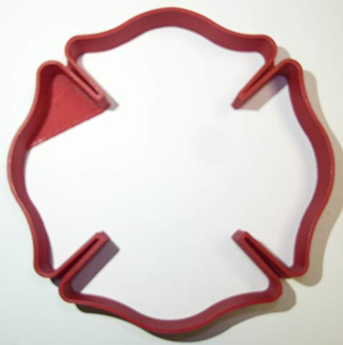 FIRE RESCUE DEPARTMENT STATION LOGO CROSS SYMBOL SPECIAL OCCASION COOKIE CUTTER BAKING TOOL 3D PRINTED MADE IN USA PR911
