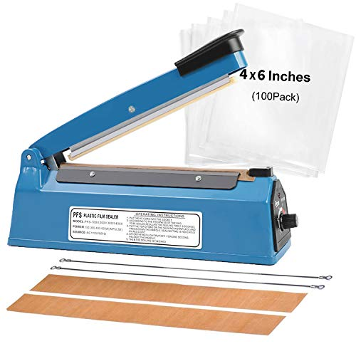 "NIISEN 8"" 200mm Impulse Manual Hand Sealer Heat Sealing Machine"