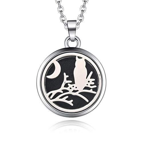 Bwer Collar de Caja de Aroma magnético de Acero Inoxidable aromaterapia difusor de Aceite Esencial Caja de Perfume medallón Colgante joyería-20