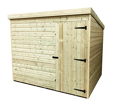 iLikeSheds 7 x 4 Windowless Pressure Treated Tongue And Groove Pent Shed With Single Door