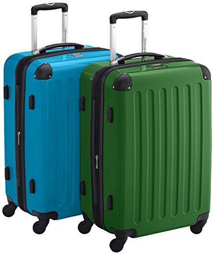HAUPTSTADTKOFFER - Alex - 2er Koffer-Set Hartschale glänzend, TSA, 65 cm, 74 Liter, Blau-Grün