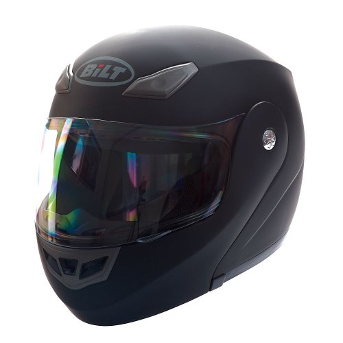 BILT Demon Modular Motorcycle Helmet - SM, Matte Black