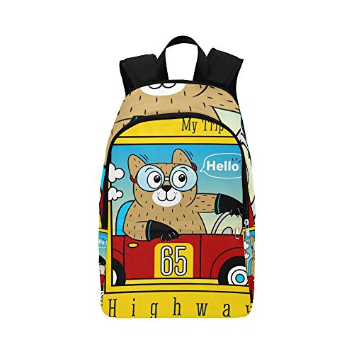 ZXWXNLA Best Daypack Creepy Cat Driving Car Fast Durable Water Resistant Classic Small Travel Bag Casual Tote Bag for Women Cooler Travel Bag Travel Bag Organizer