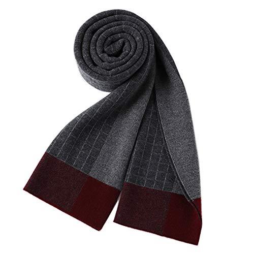 Chal 100% pura lana bufanda de invierno de los hombres de moda de la tela escocesa caliente grueso bufandas de gama alta de la caja de regalo regalo adecuado for el novio Bufandas de moda para mujer