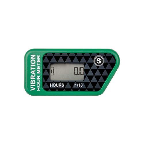 Jayron JR-HM016B Medidor de Horas Digital Inalámbrico LCD con Vibración Activada,para Todas Las Máquinas Vibratorias,Compresor de Aire,Generador,Moto Acuática,Cortacésped,Motosierra