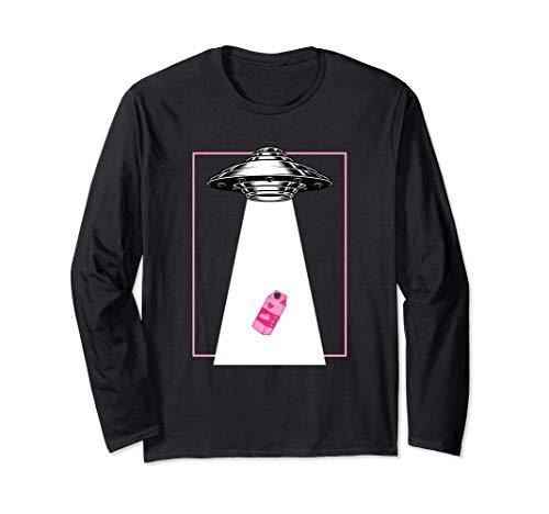 エイリアンUFOカワイイいちごミルク原宿かわいい 長袖Tシャツ