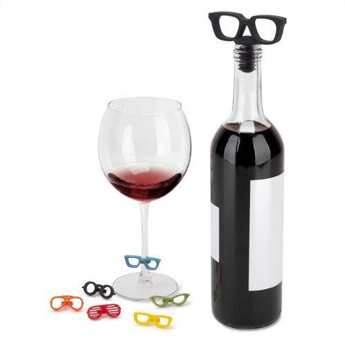 Umbra Glasses Wine Topper and Glass Markers Set