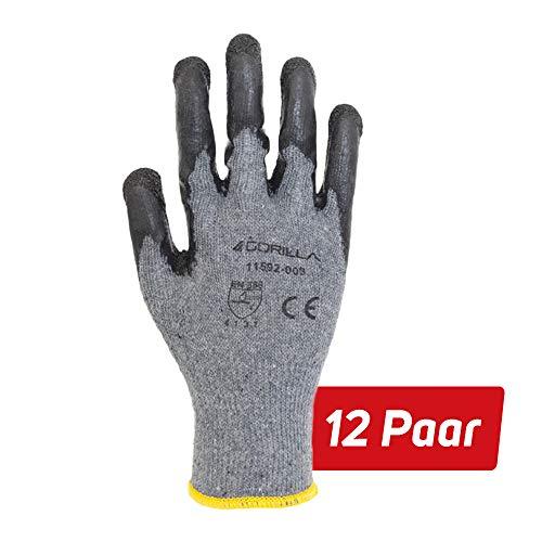 12 Paar Robuste Arbeitshandschuhe Gorilla Grip Schutzhandschuhe (11)