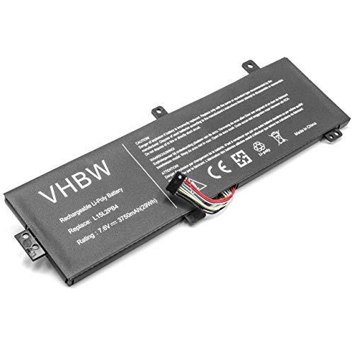 vhbw Li-Polymer Akku 3750mAh (7.6V) schwarz passend für Laptop Notebook Lenovo Ideapad 310 15