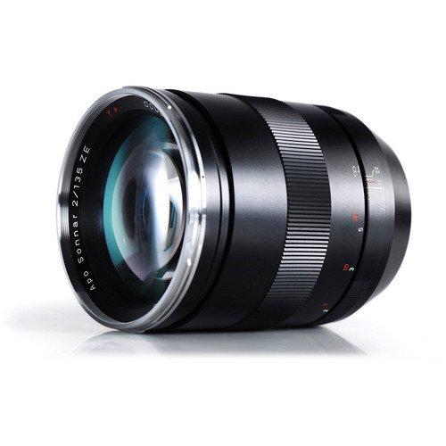 Carl Zeiss Apo Sonnar 1999-675 T-Objektiv für Canon ZE D77, 2/135 mm, Schwarz